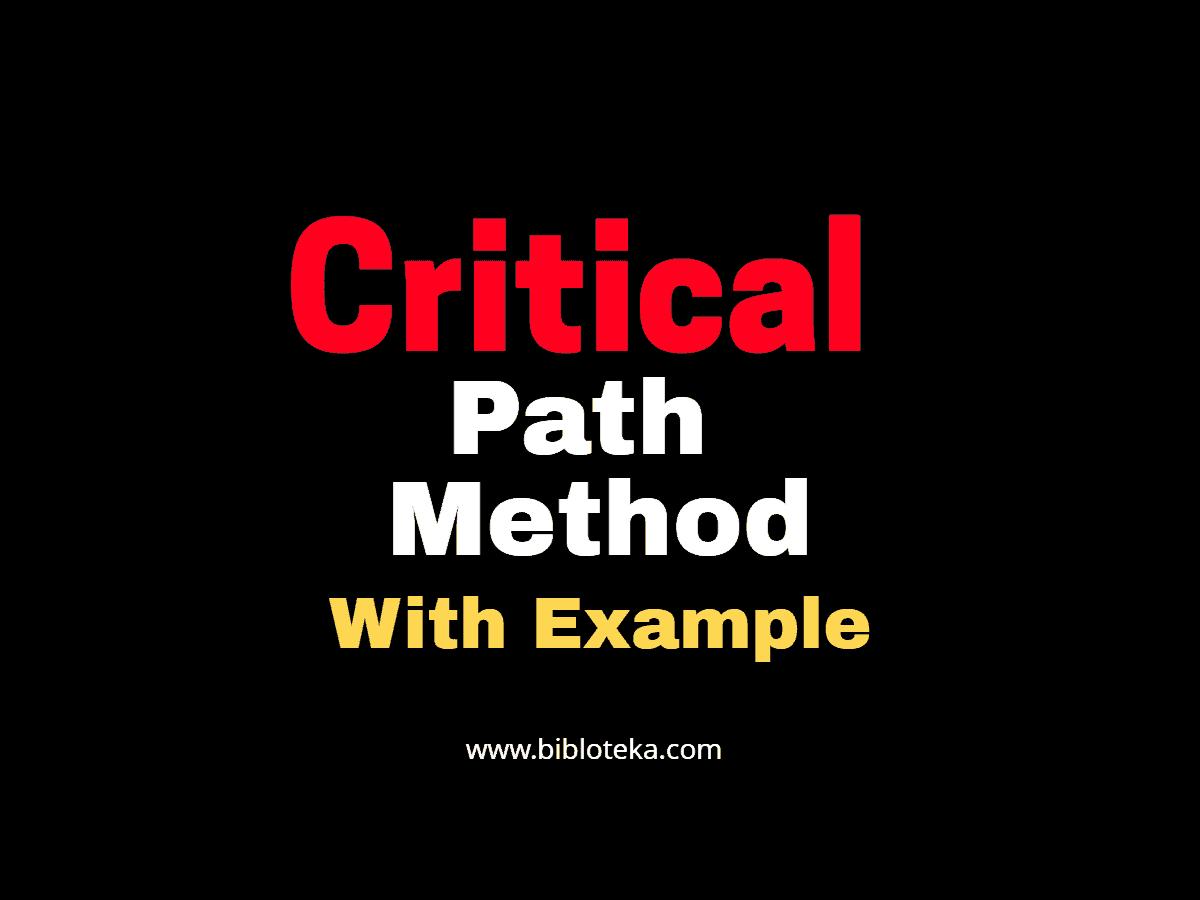 critical path method with examples bibloteka