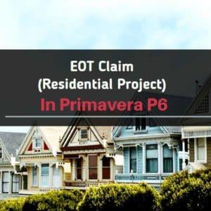 EOT claim sample residential