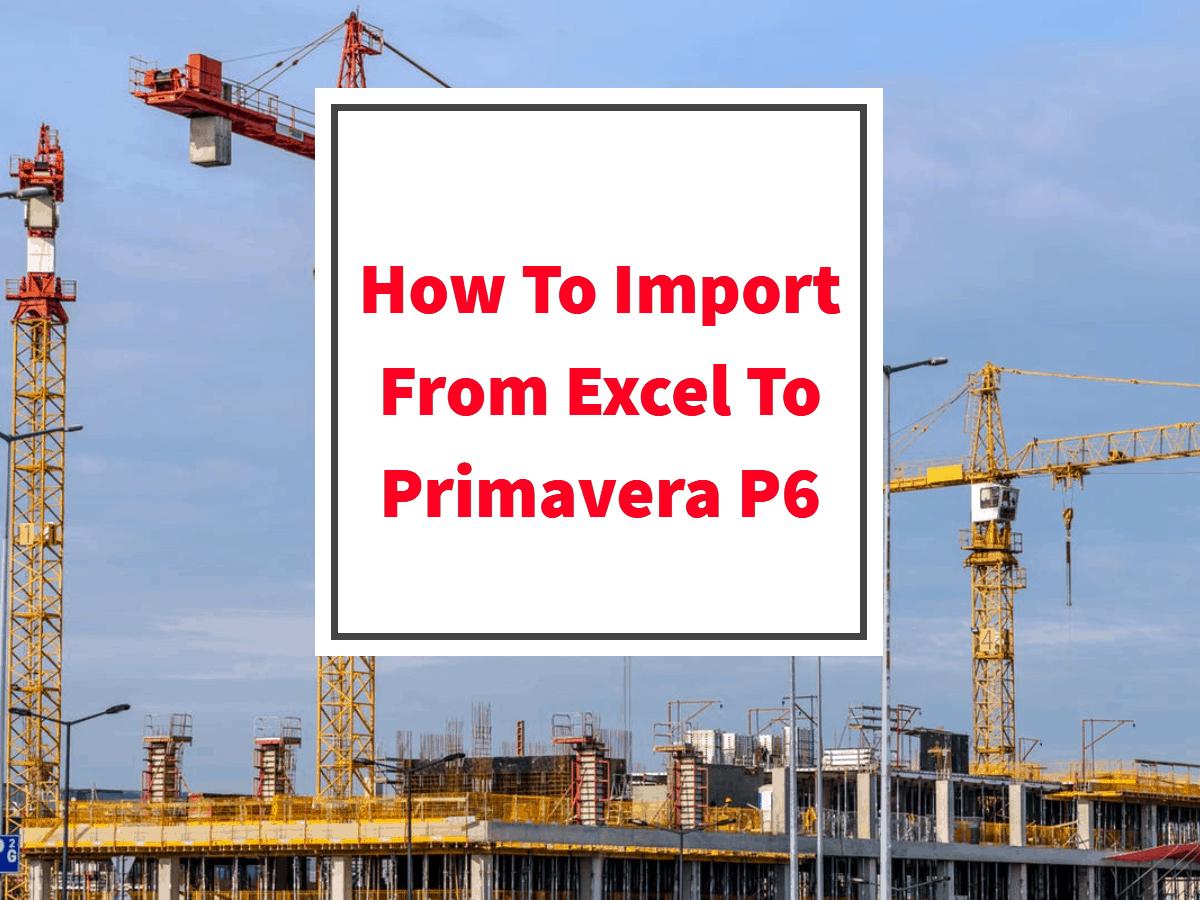 import excel p6