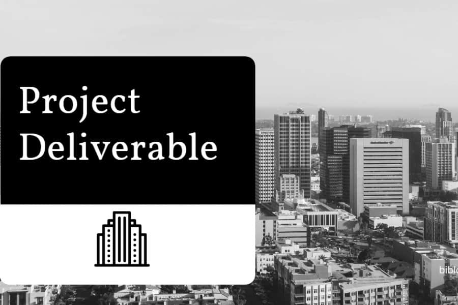 project deliverable